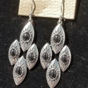 🆕️ MIA Black & Silver French hook Earrings